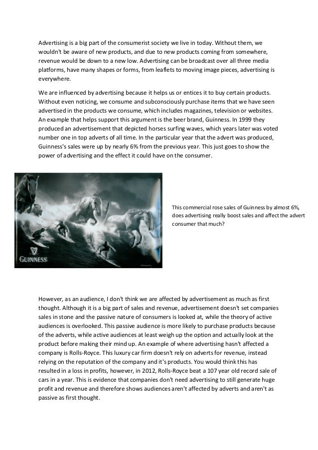 Essay on advertising good or bad