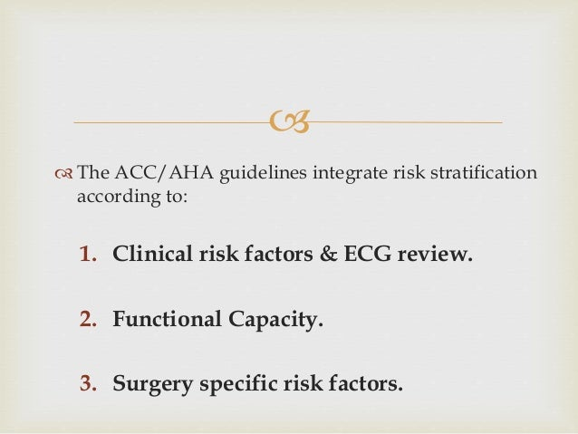 acc aha risk stratification guidelines
