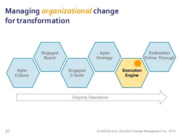 what does operational changes mean