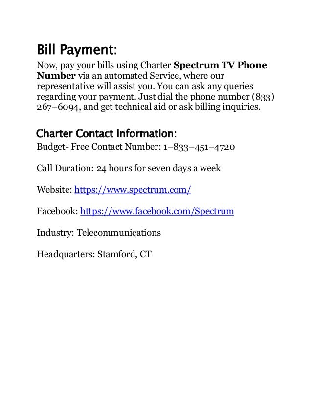 Is charter spectrum tv phone number any good
