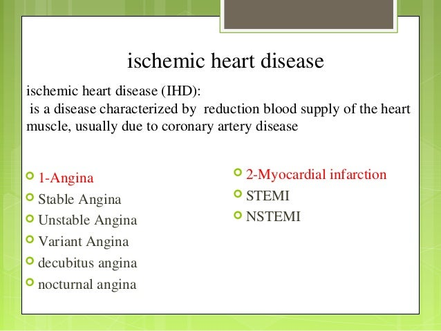 coronary artery disease slideshare