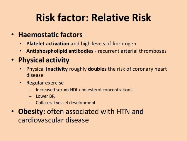 Risk factor: Relative Risk • Alcohol: excess consumption • Other dietary factors • Diets deficient in fresh fruit, vegetab...
