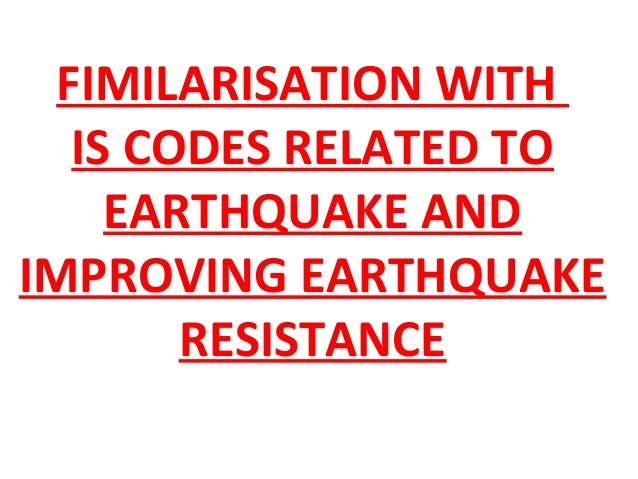 What Are Earthquake Related Building Codes