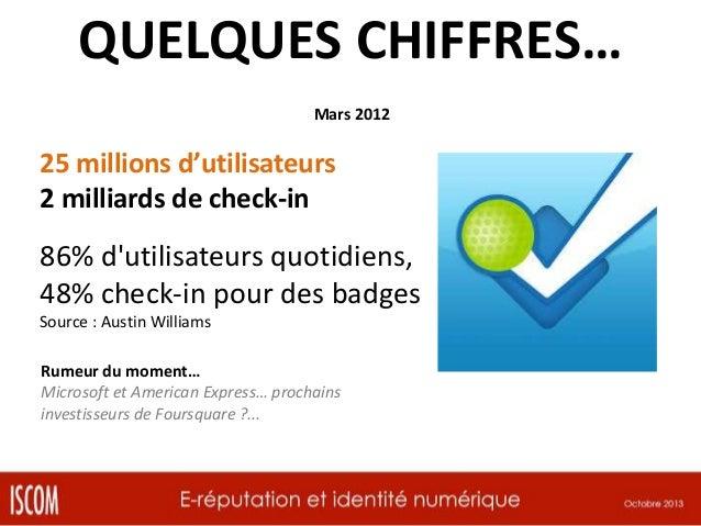 QUELQUES CHIFFRES… Septembre 2012  55% des consommateurs partagent leurs achats sur les réseaux sociaux Source : The Socia...