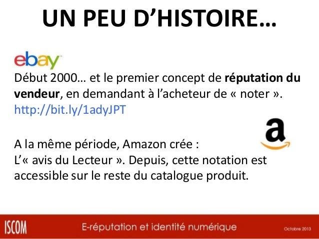 UN PEU D'HISTOIRE… Début 2000… et le premier concept de réputation du vendeur, en demandant à l'acheteur de « noter ». htt...