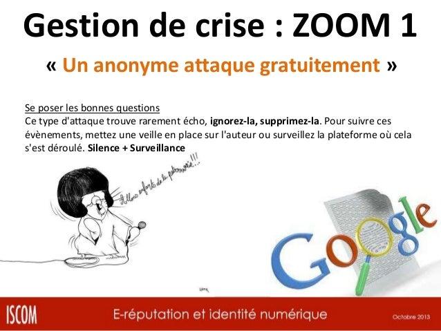 Gestion de crise : ZOOM 2 « Un client se plaint » Se poser les bonnes questions Est-il un habitué du fait ? Il peut influe...
