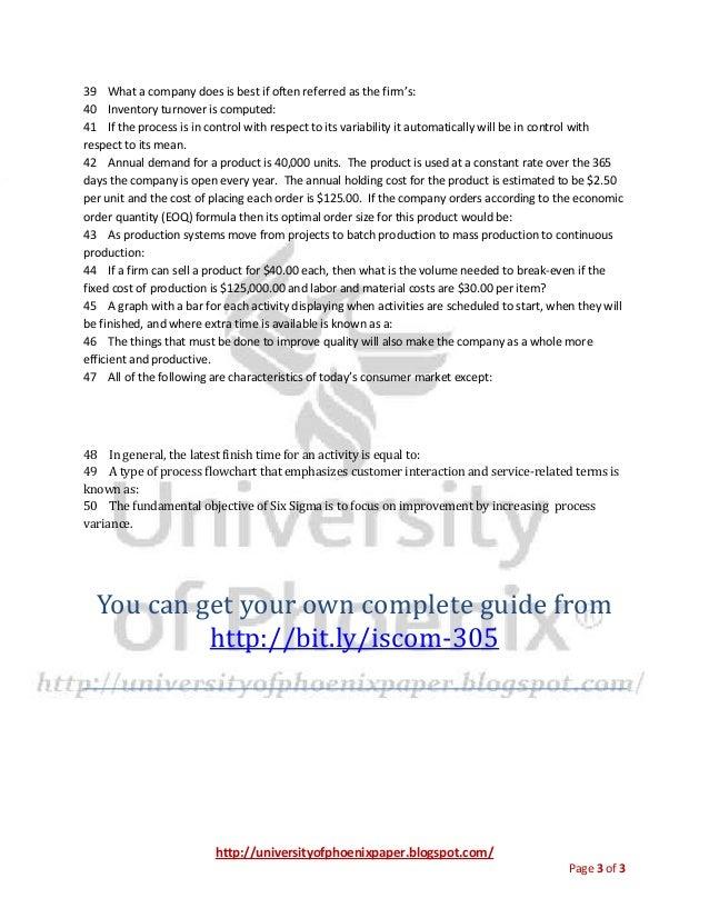 Iscom 305 Final Exam University Of Phoenix Final Exams
