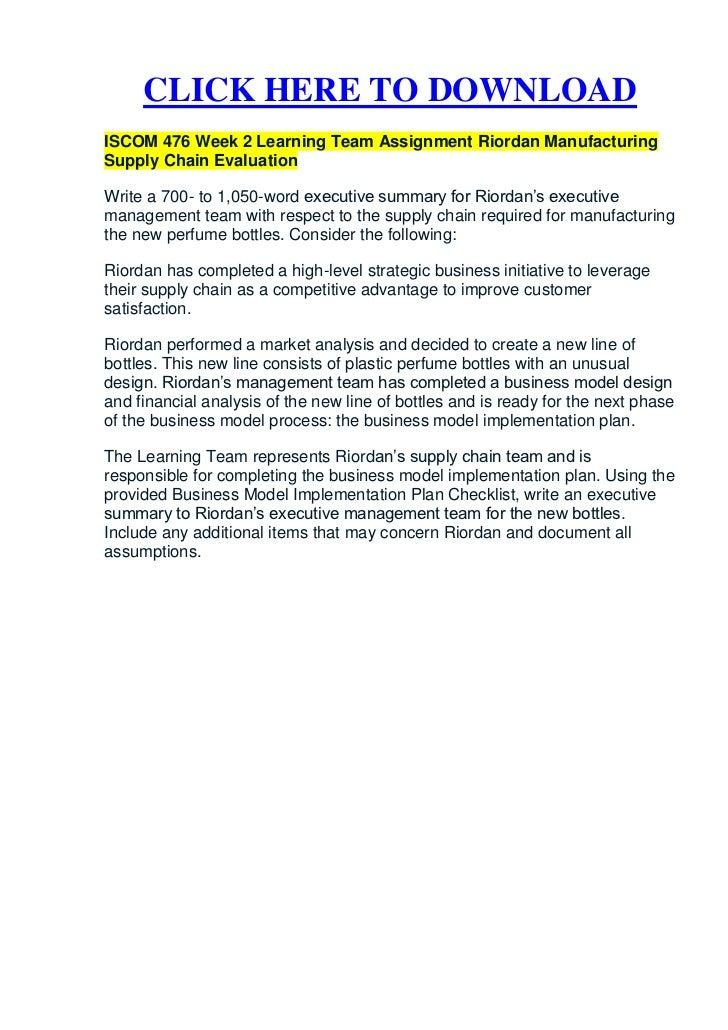 riordan manufacturing strategic plan
