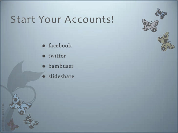 Start Your Accounts!                                   facebook                                                          ...