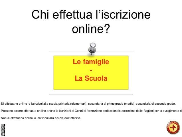 Chi effettua l'iscrizione online? Le famiglie - La Scuola Si effettuano online le iscrizioni alla scuola primaria (element...