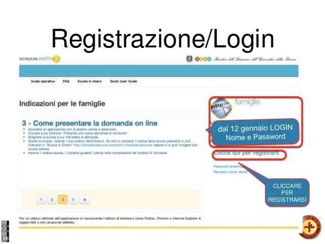 Registrazione/Login CLICCARE PER REGISTRARSI