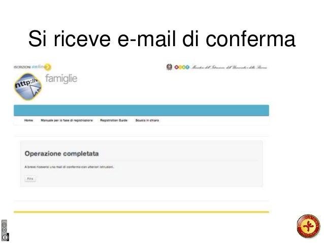 Si riceve e-mail di conferma