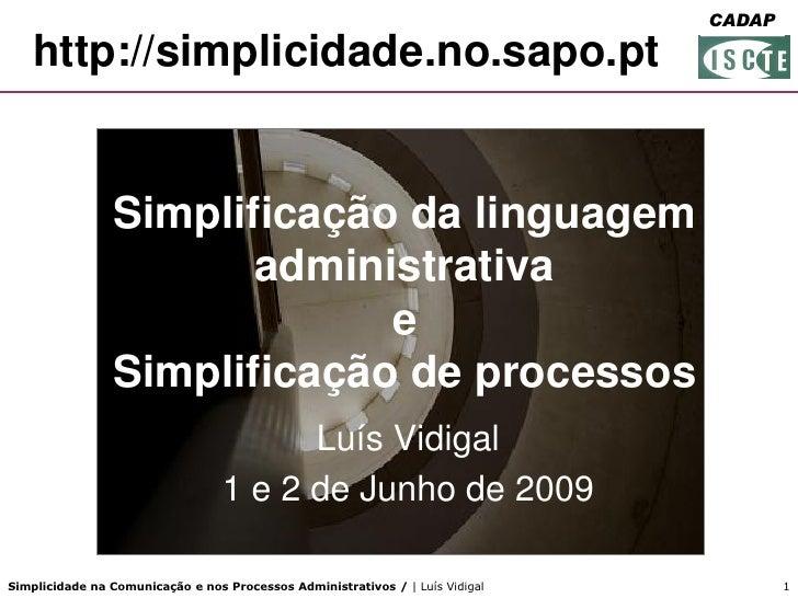 FORGEP                                                                                CADAP     http://simplicidade.no.sap...