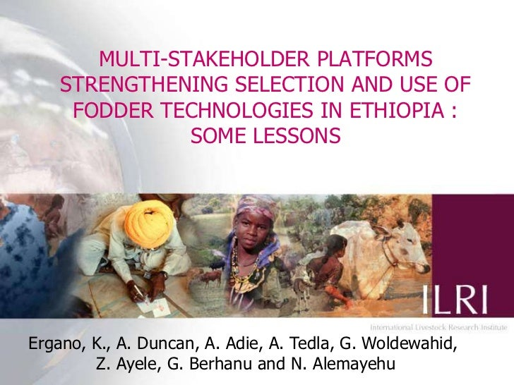 MULTI-STAKEHOLDER PLATFORMS STRENGTHENING SELECTION AND USE OF FODDER TECHNOLOGIES IN ETHIOPIA : SOME LESSONS<br />Ergano,...