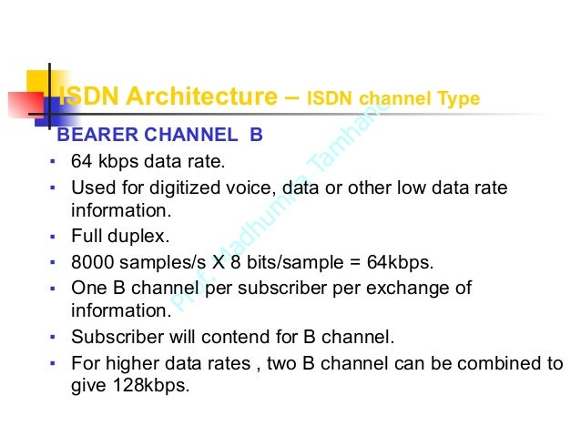 Isdn integrated services digital network for B isdn architecture