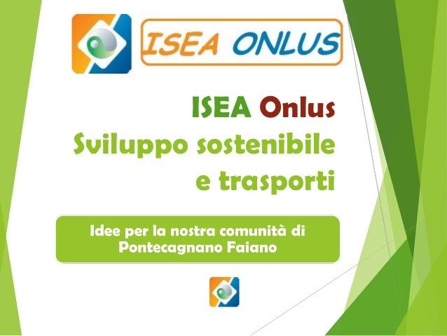 ISEA Onlus Sviluppo sostenibile e trasporti