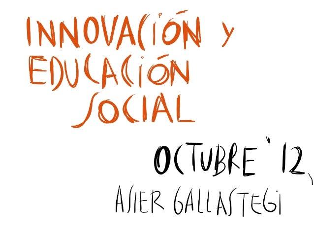 Innovación y Educación Social