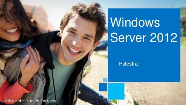 Windows  Server 2012  Palestra