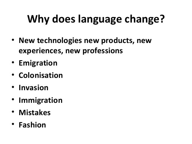 is english changing