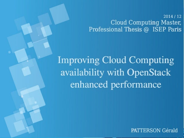 thesis on cloud computing security