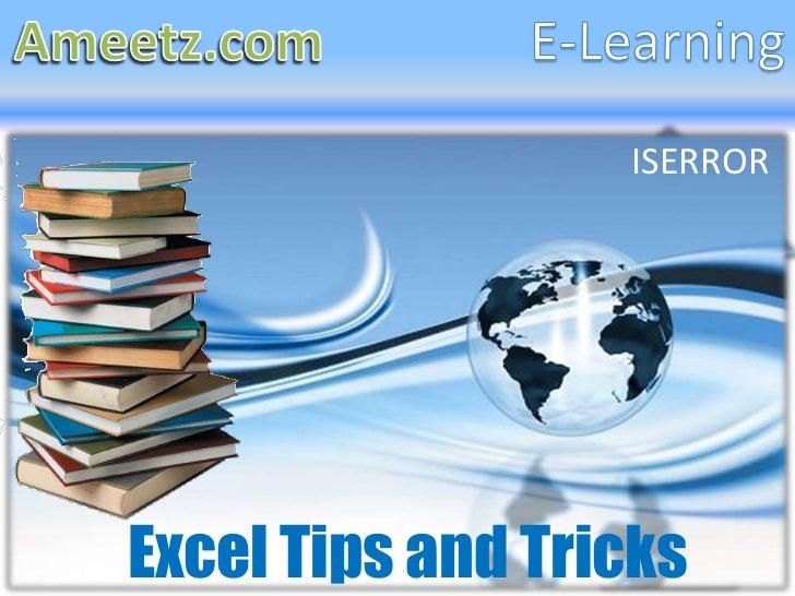 ISERRORExcel Tips and Tricks