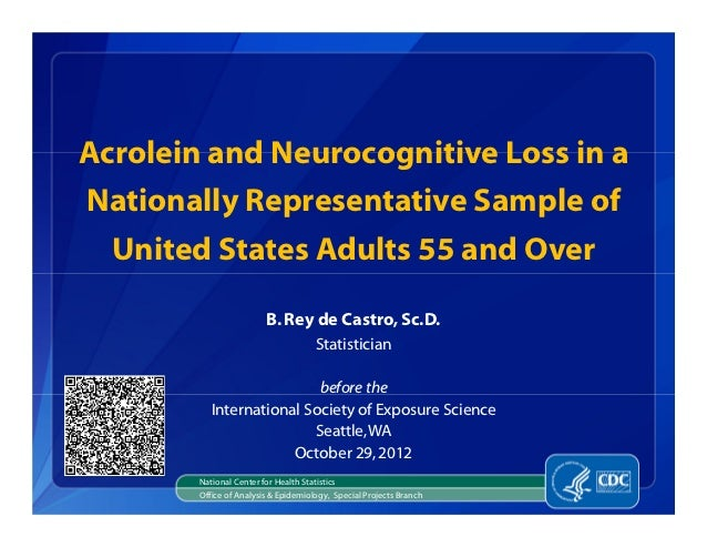 Acrolein and Neurocognitive Loss in aNationally Representative Sample of  United States Adults 55 and Over                ...