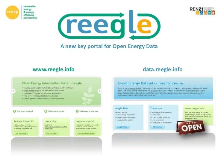 A new key portal for Open Energy Datawww.reegle.info                         data.reegle.info