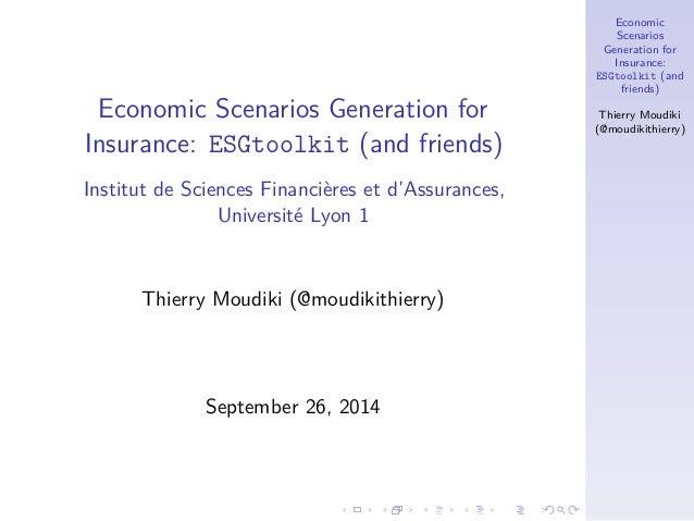 Economic scenario generator