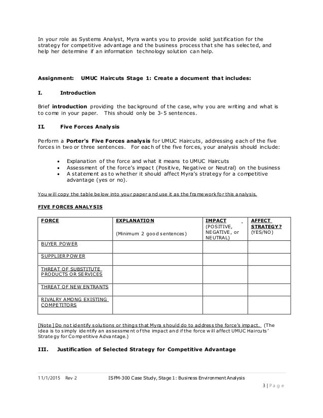 ifsm-300 case study stage 1 business environment analysis