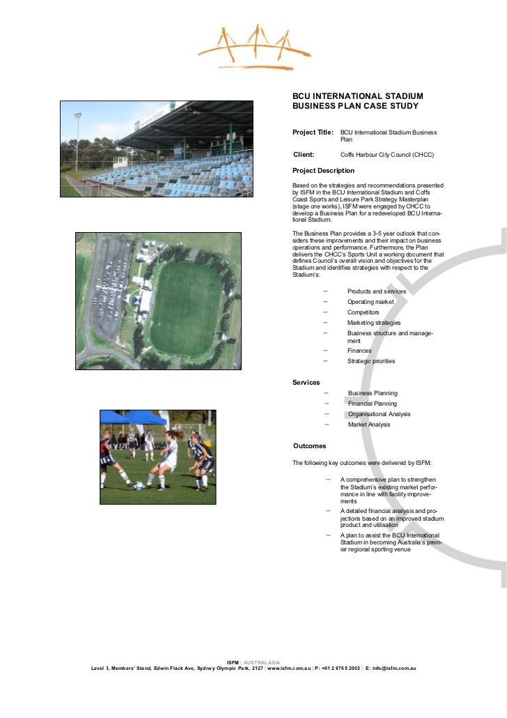 Stadium business plan