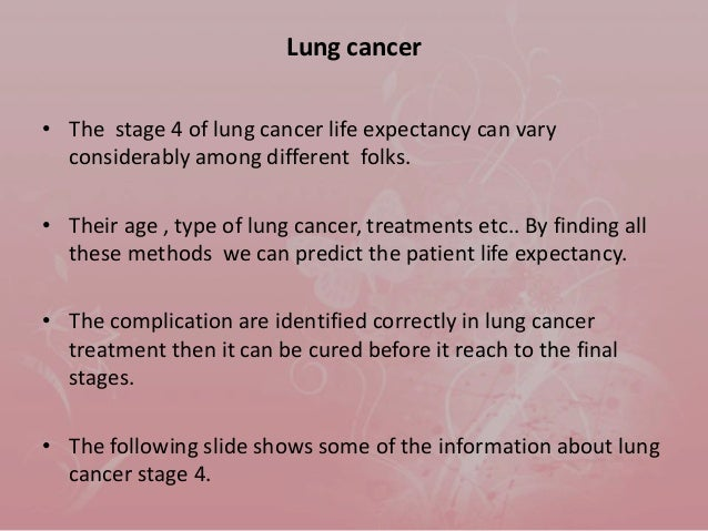 Image Result For Stage Lung Cancer Prognosis Life Expectancy Treatment