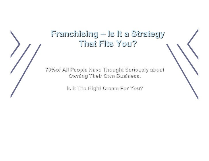 Is Franchising A Fit For You 1