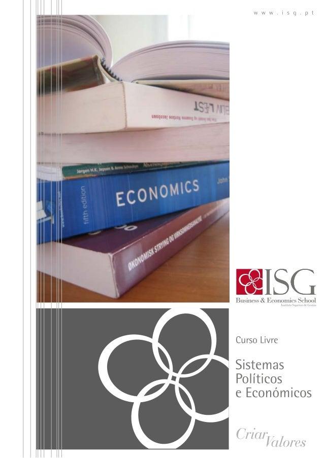 Curso livre sobre sistemas políticos e económicos_ISG 2014
