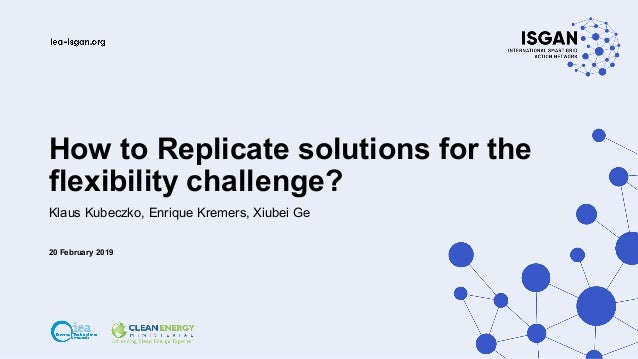 How to Replicate solutions for the flexibility challenge? Klaus Kubeczko, Enrique Kremers, Xiubei Ge 20 February 2019