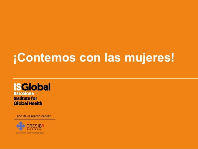 ¡Contemos con las mujeres!and its research center: