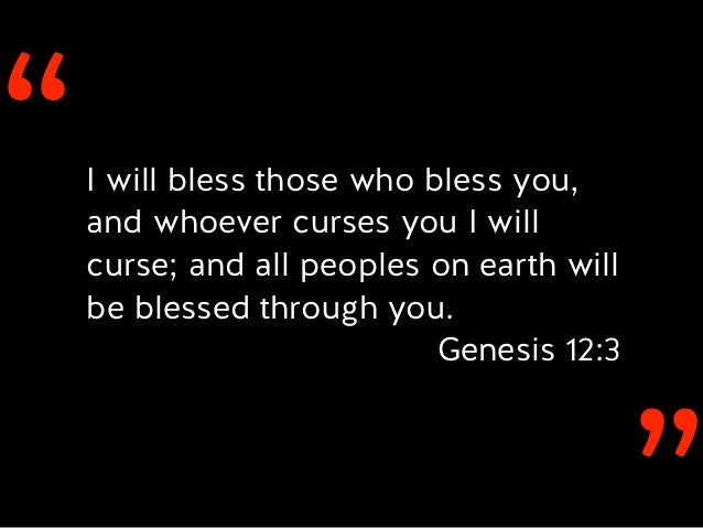 Image result for i will bless those who bless you
