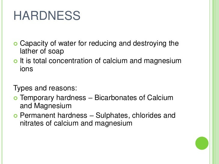 Maximum Level Of Magnesium In Drinking Water