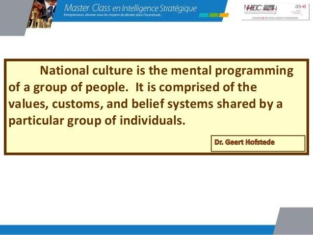 La culture d'entreprise estinfluencée par la culture nationale                  et  soutenue ou combattue par le          ...