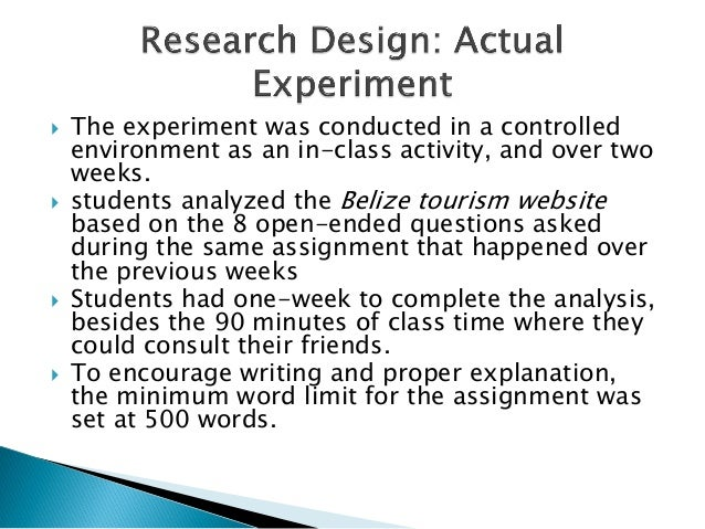  The experiment was conducted in a controlledenvironment as an in-class activity, and over twoweeks. students analyzed t...