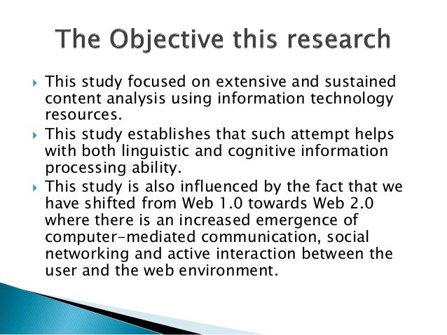  This study focused on extensive and sustainedcontent analysis using information technologyresources. This study establi...