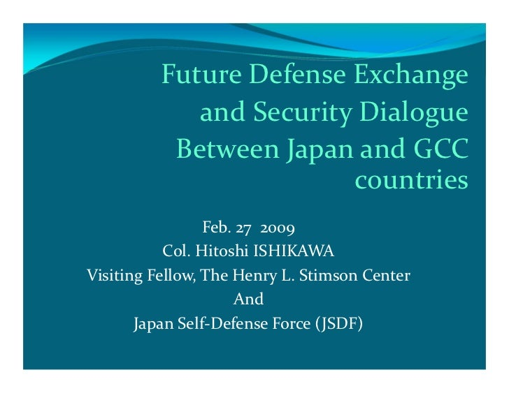 Future Defense Exchange             and Security Dialogue           Between Japan and GCC                         countrie...