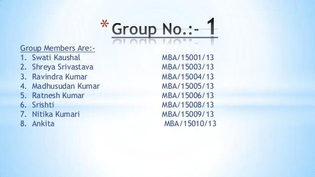 * Group Members Are:1. Swati Kaushal 2. Shreya Srivastava 3. Ravindra Kumar 4. Madhusudan Kumar 5. Ratnesh Kumar 6. Srisht...