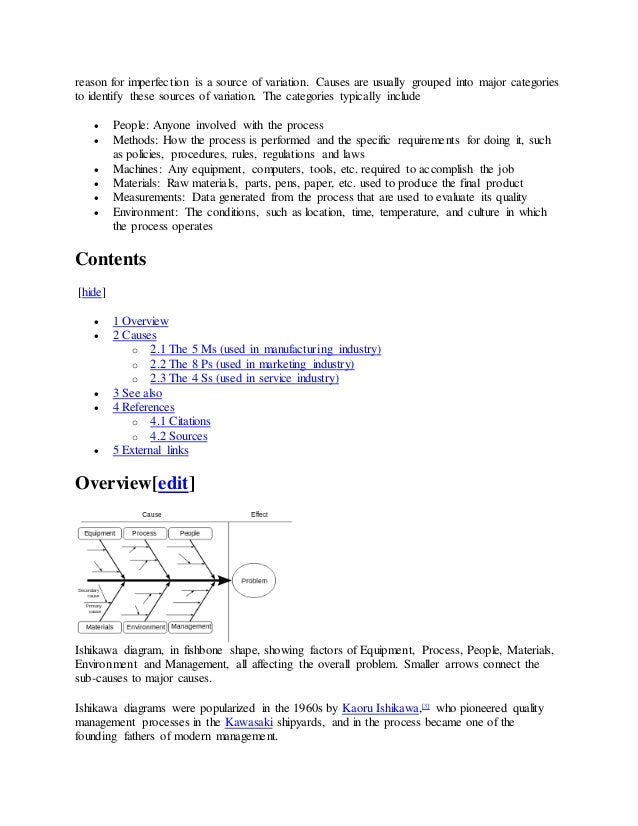 Ishikawa diagram each cause or 2 reason ccuart Image collections