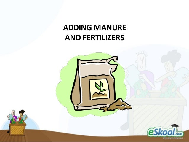 ADDING MANURE AND FERTILIZERS