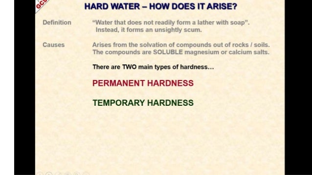 hard water and soft water pdf