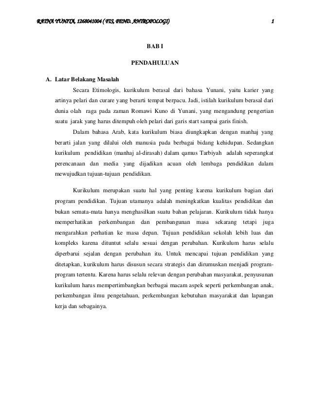 RATNA YUNITA, 1268041004 ( FIS, PEND. ANTROPOLOGI)  1  BAB I PENDAHULUAN A. Latar Belakang Masalah Secara Etimologis, kuri...