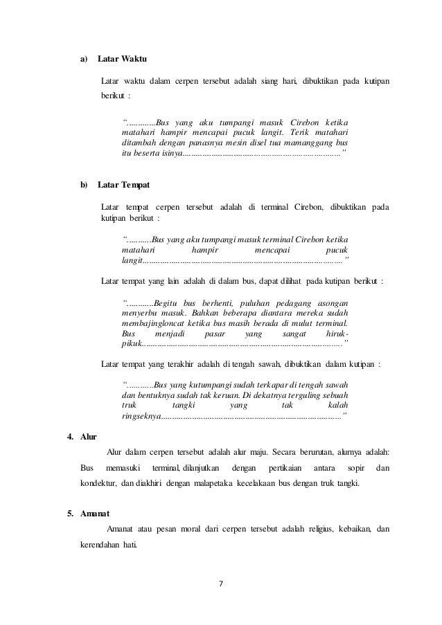 Unsur Intrinsik Cerpen Shalawat Badar Karya Ahmad Tohari