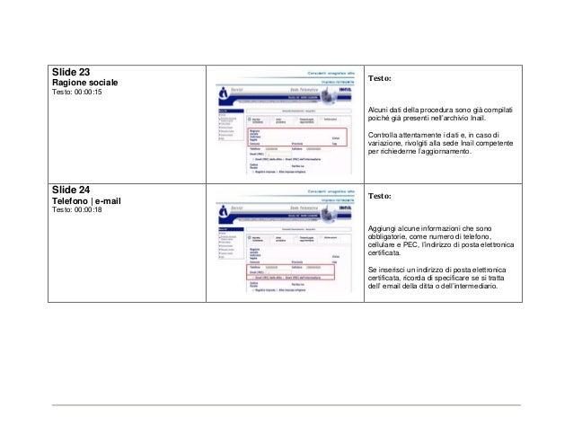 Bando isi 2014 di inail tutorial per consulente for Consul tutorial