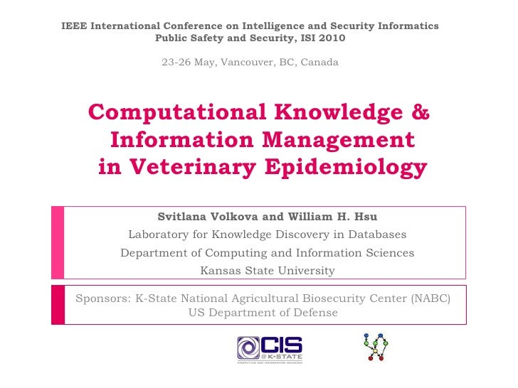 IEEE International Conference on Intelligence and Security Informatics Public Safety and Security, ISI 2010<br />23-26 May...