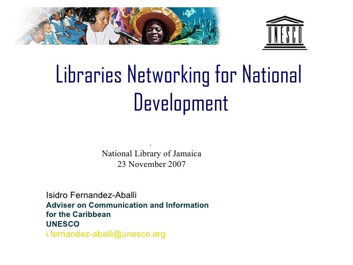 Libraries Networking for National              Development                            .               National Library of ...